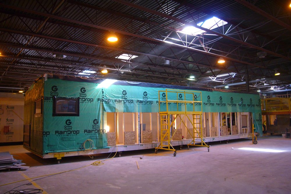 Exterior view of module in factory