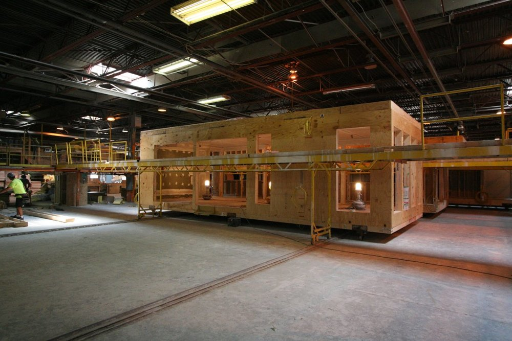 Exterior view of module construction