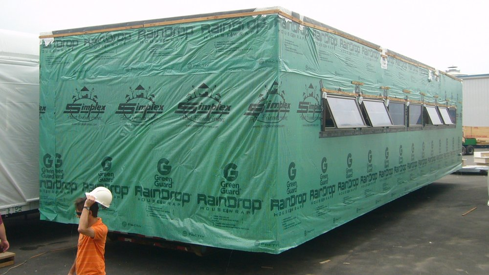 Exterior view of Module with Housewrap