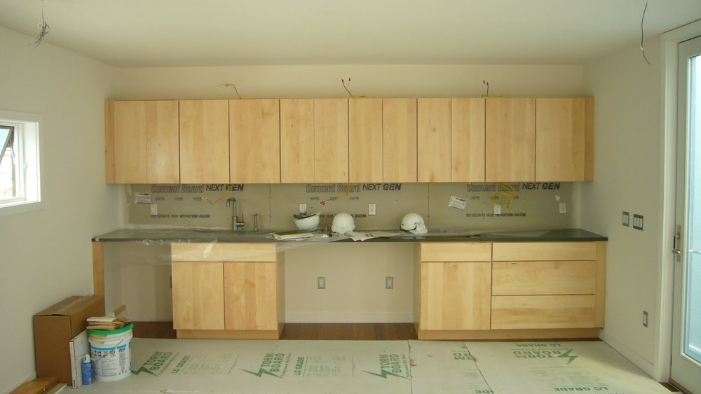 Interior view of Kitchen area under construction
