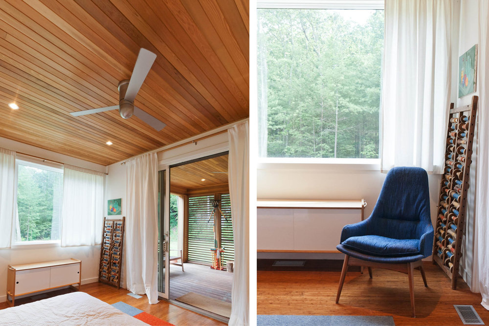 Modern Modular Prefab House | New York Stat Palenville | Bedroom Cedar Ceiling Fan | RES4