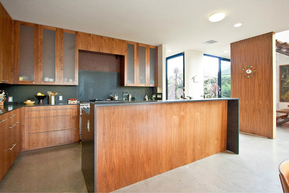 Modern Panelized Prefab Beach House | Venice California | Kitchen Custom Cabinets | RES4
