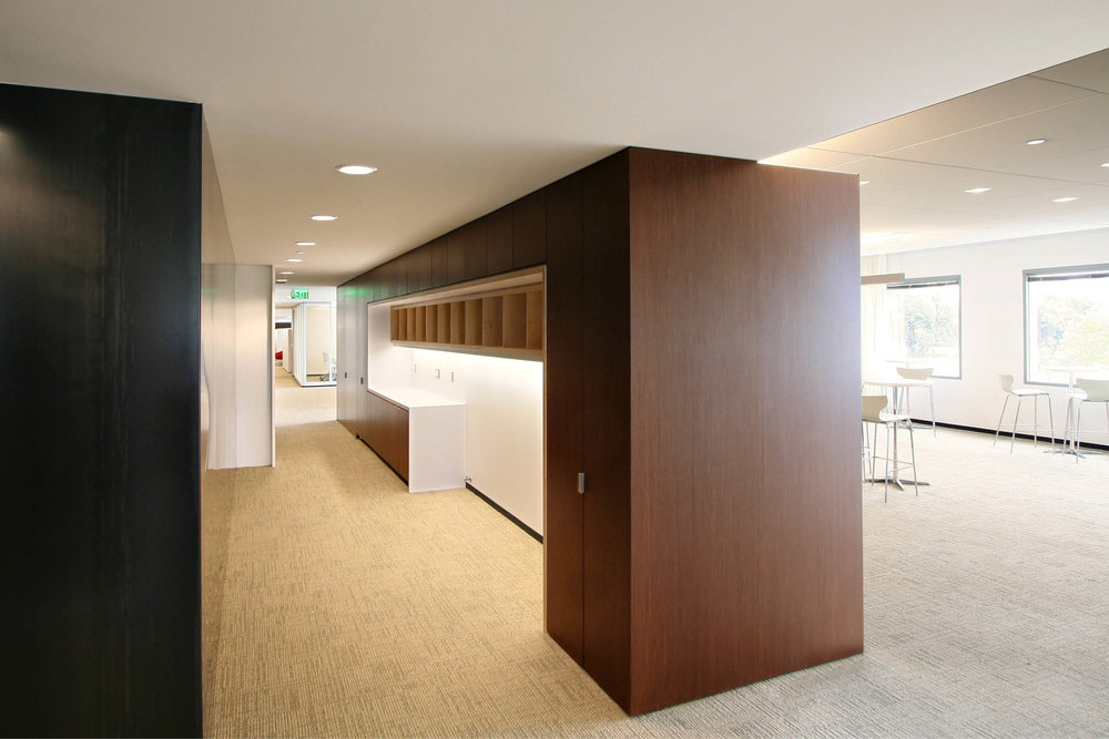 Modern Commercial Office | Custom Wood Millwork Built Ins | RES4