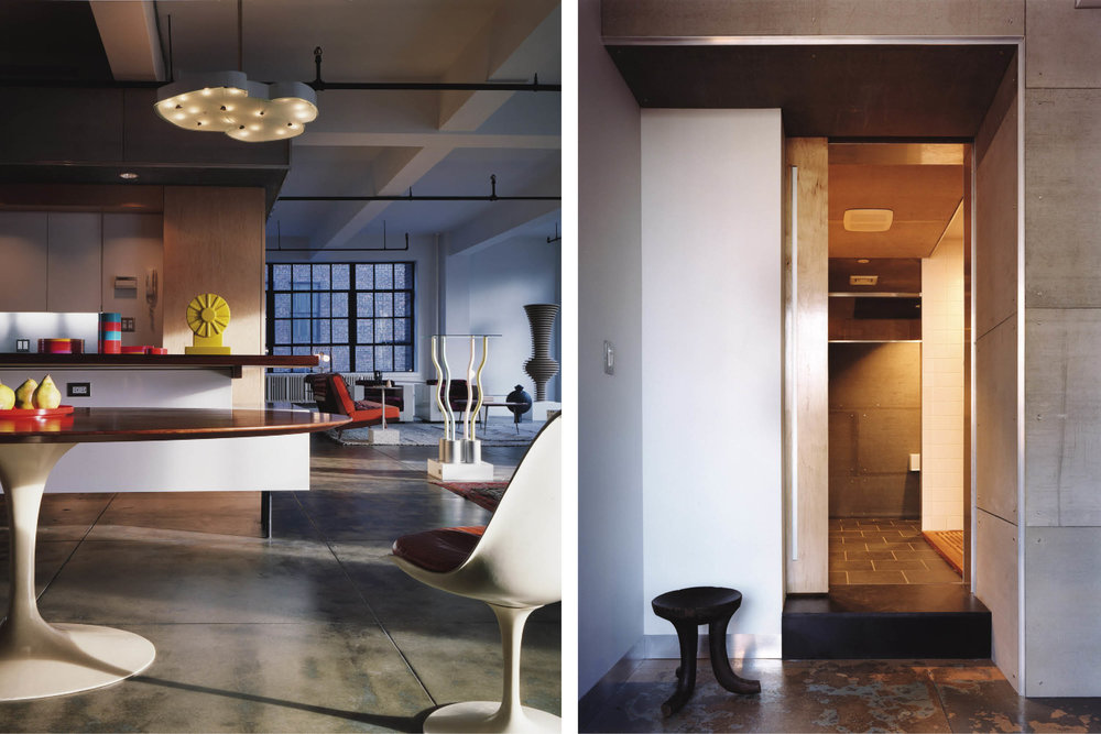 Modern Residential Loft Renovation | New York City Hell's Kitchen | Open Plan Custom Kitchen Millwork Cabinets | RES4
