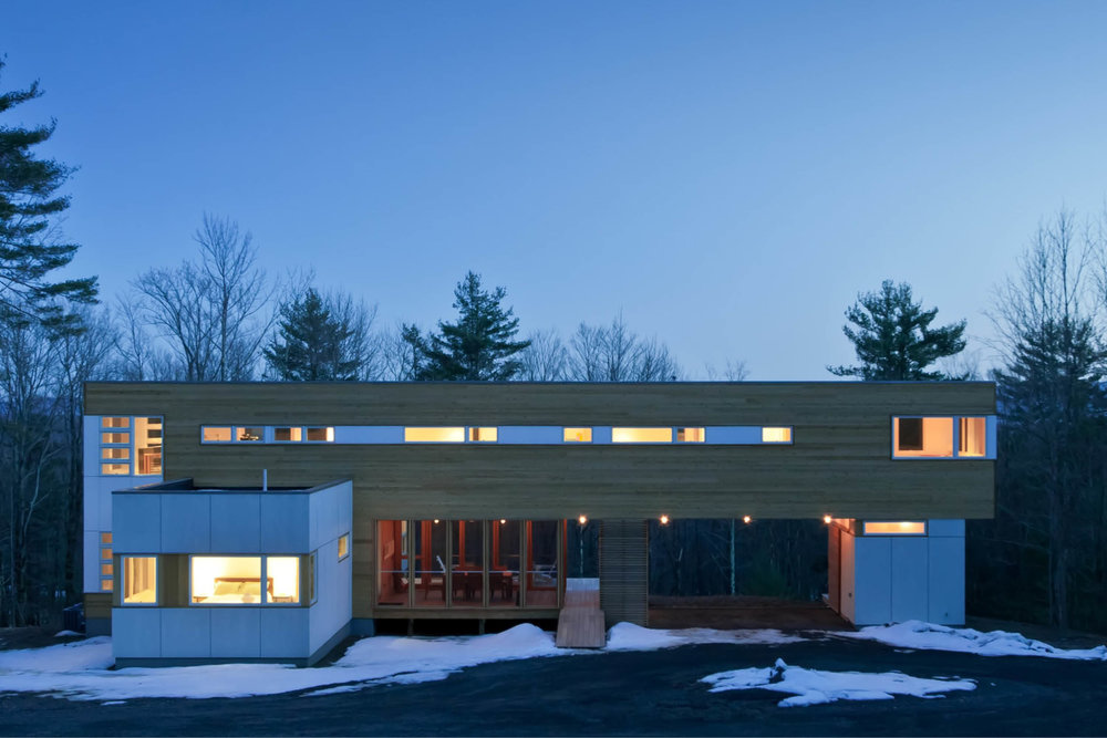 Modern Modular Prefab House | New York State | Cedar White Siding Windows | RES4