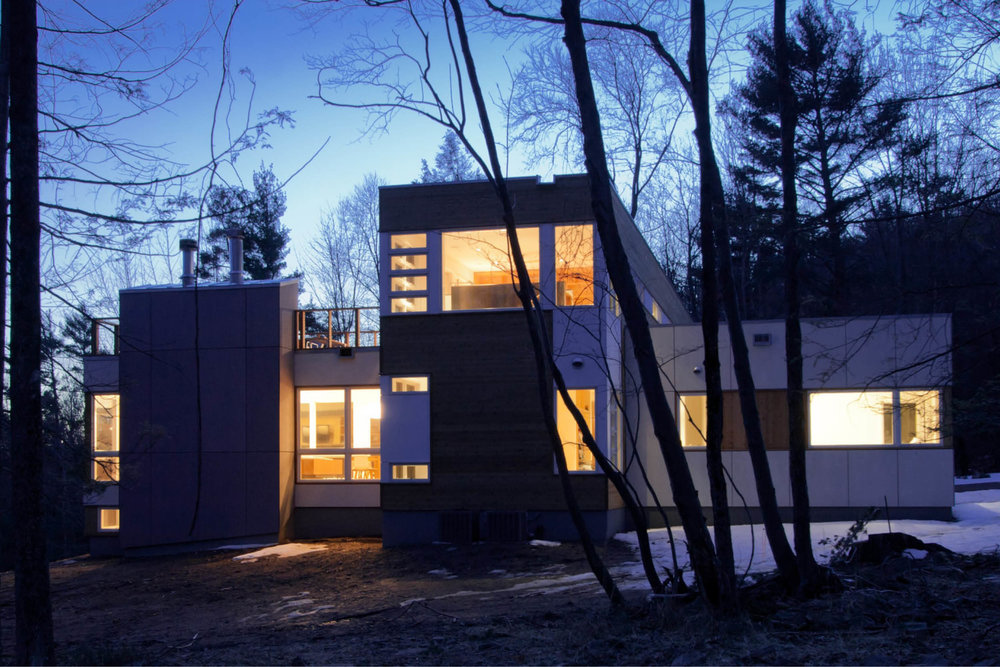 Modern Modular Prefab House | New York State | Cedar Siding White Windows | RES4