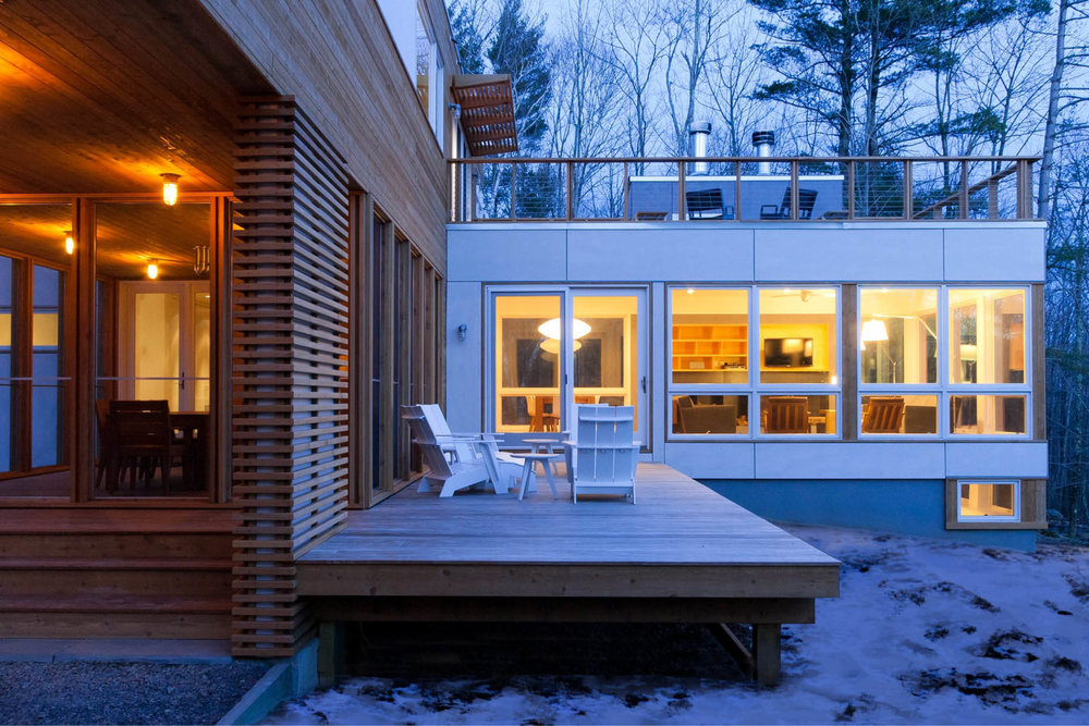 Modern Modular Prefab House | New York State | Cedar Siding Deck Screen Wall | RES4