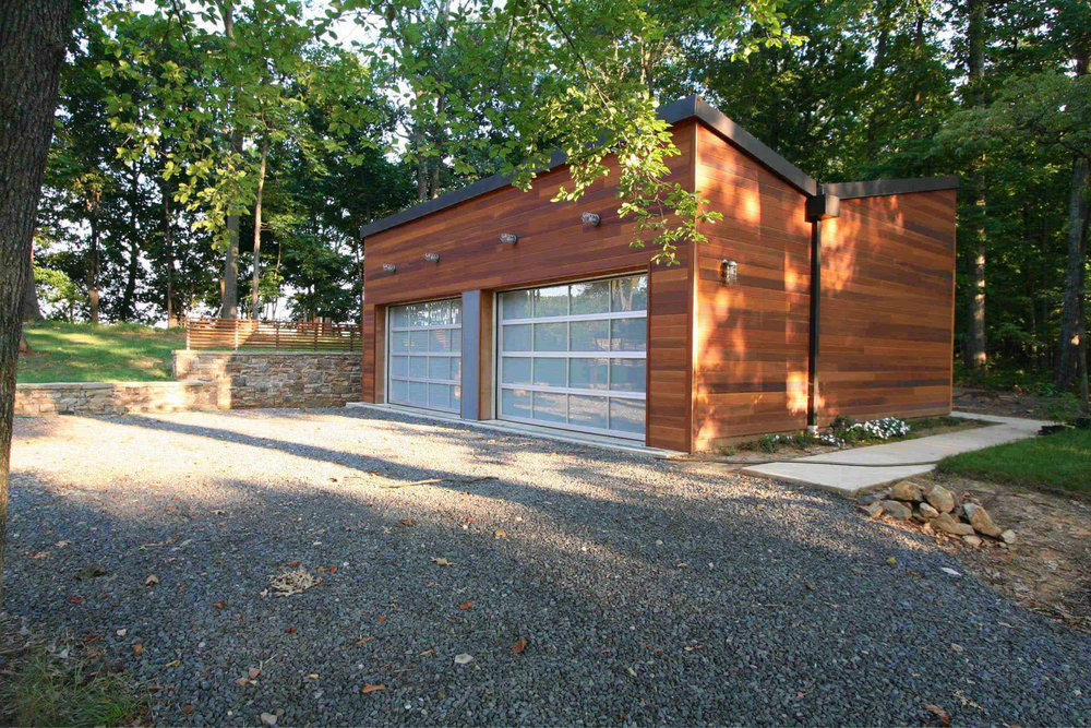 Modern Modular Prefab House Country Retreat | Butterfly Room Garage Cedar Siding | RES4