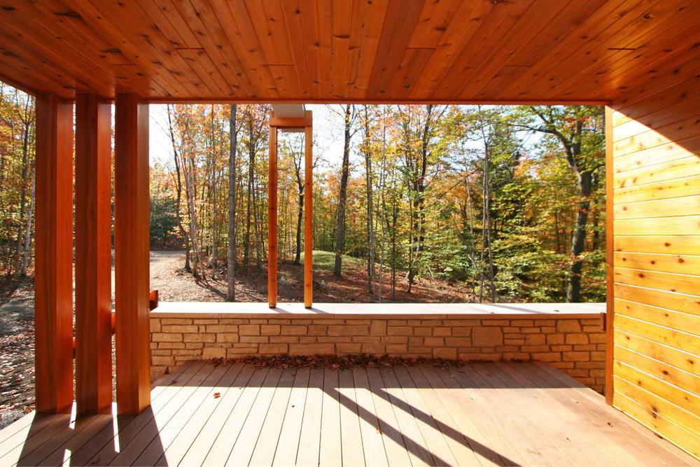 Modern Prefab Cabin House | Wisconsin | Butterfly Roof Cedar Siding Stone Wall Deck | RES4