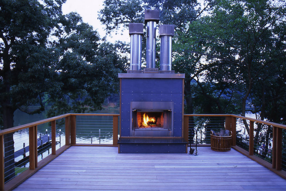 Modern Modular Prefab House | Annapolis Maryland Chesapeake Bay | Roof Deck Ipe Fireplace | RES4