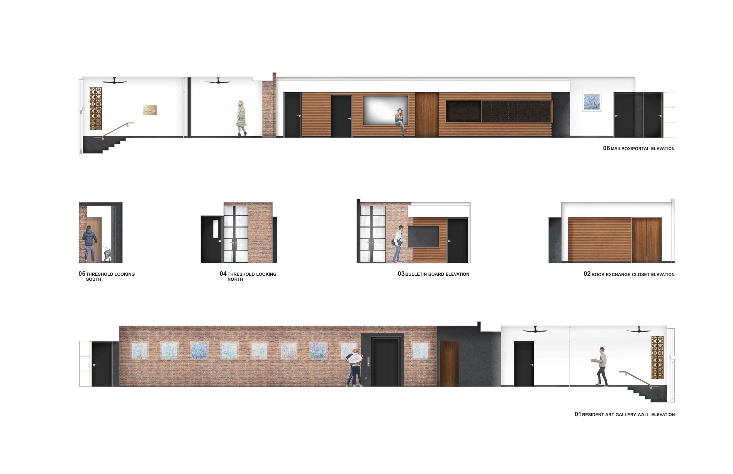 Rendered Interior Elevations