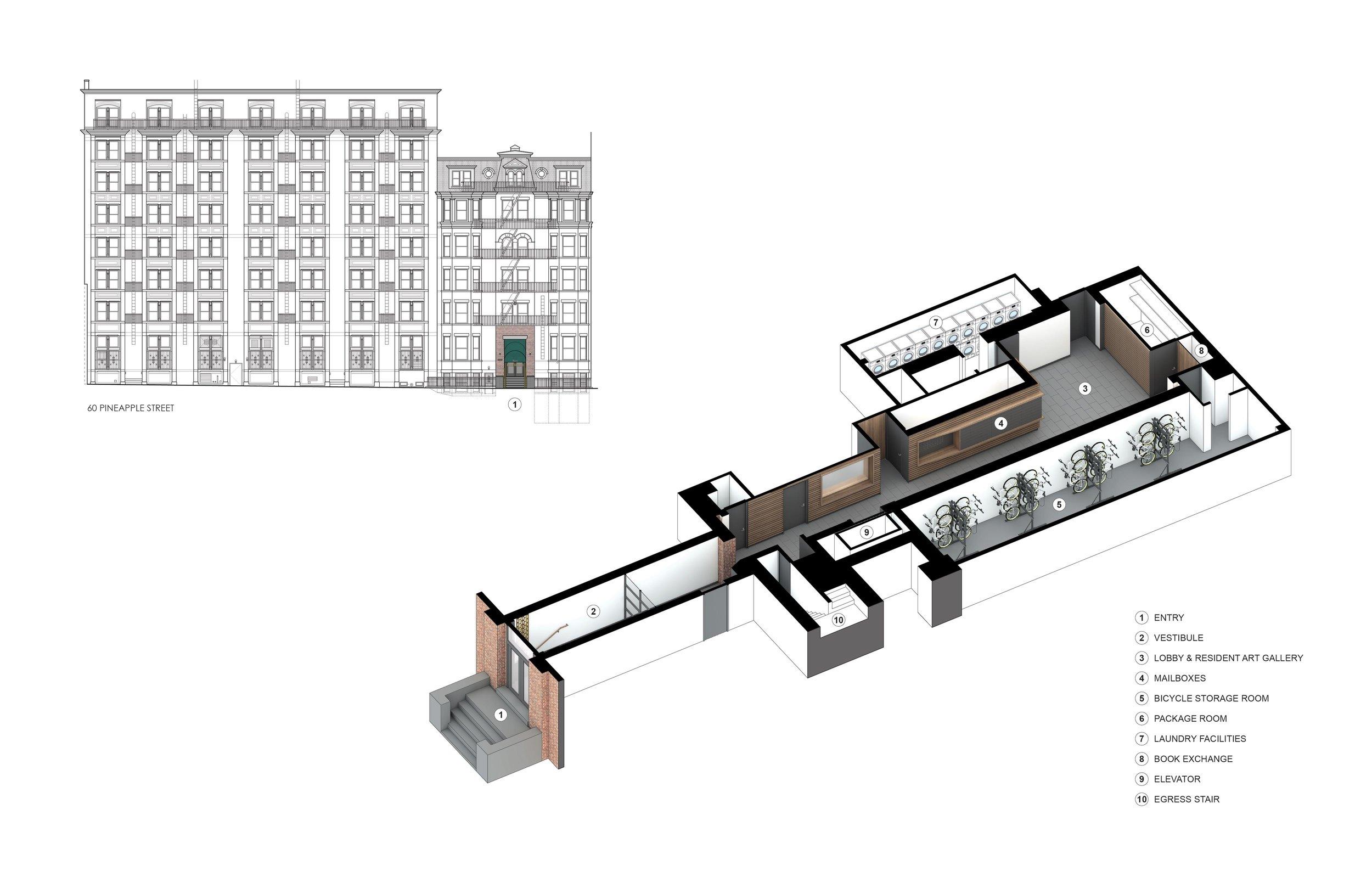 Rendered Axonometric Plan
