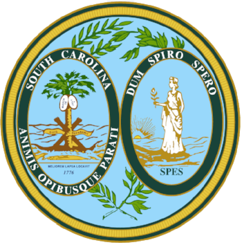 The state seal of South Carolina