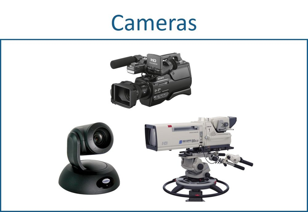 Broadcast quality cameras for AV