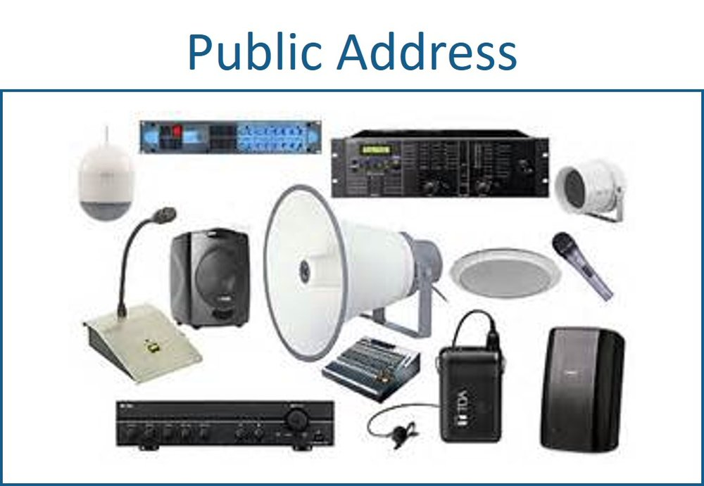Public address systems