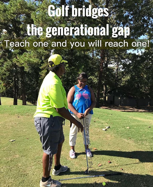 Golf is a sport that can and should bridge the gap between generations! Take the time and teach a child and you will invest in the future of GOLF and a CHILD! #golf #golfis #fullswinggolfacademy #youthgolf #golflover #juinorgolf #littlerock #littlerockgolf