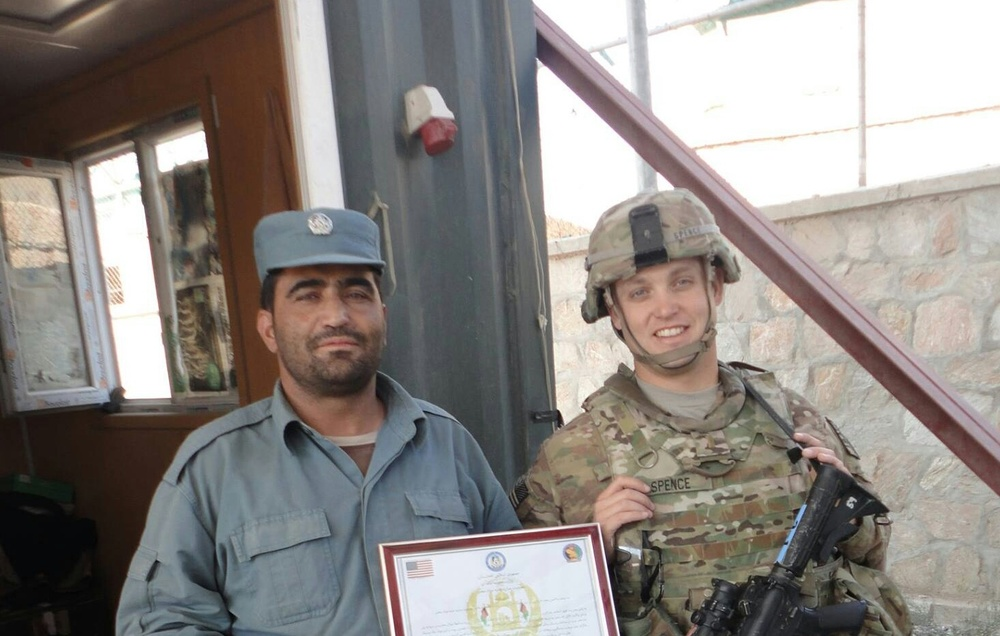 Visiting a Police Checkpoint outside of Kabul in 2014.