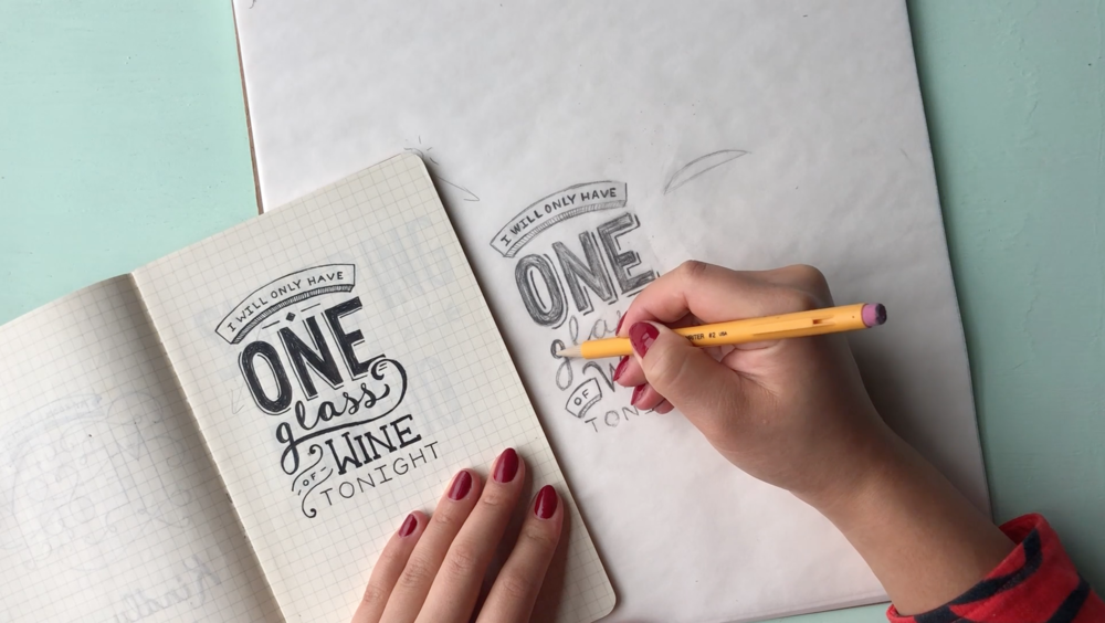 Bonus! - A behind-the-scenes video of me lettering another old piece & talking you through my design thinking.
