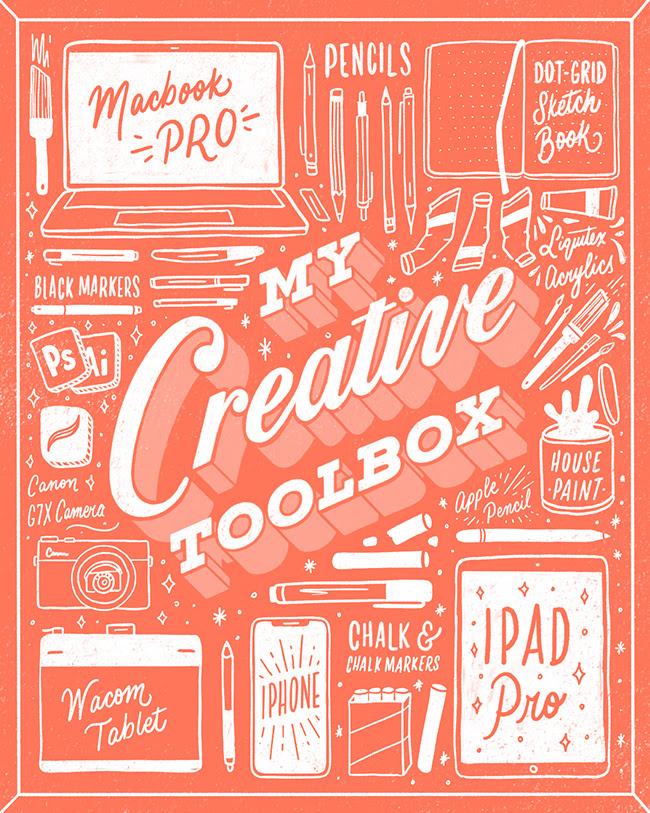 this week's challenge - Sneak peek into my lettering tool box!