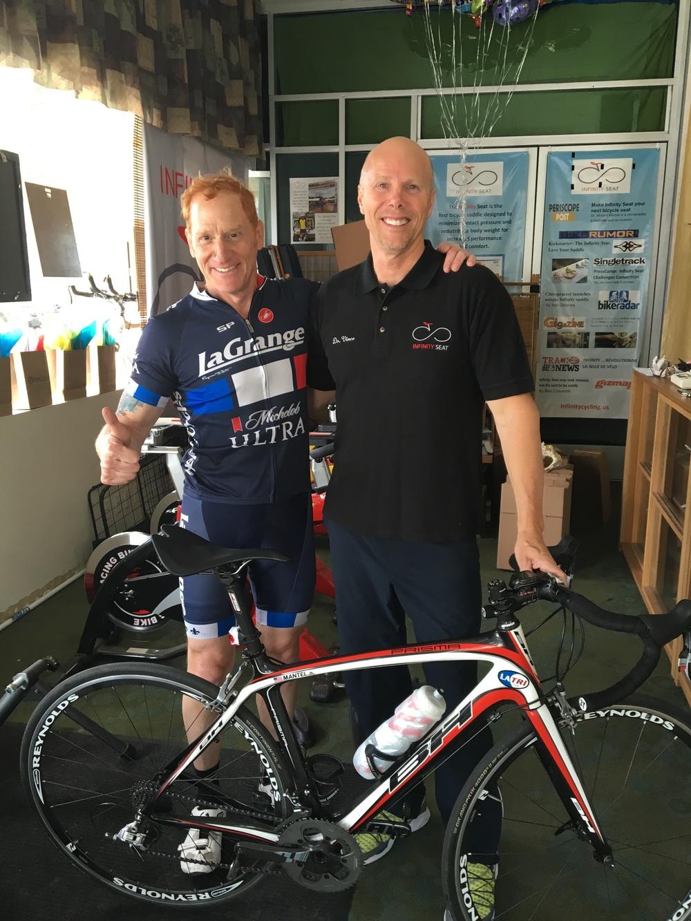 Glenn Mantel - LA Tri Club Racing Director and Dr. Vince Marcel