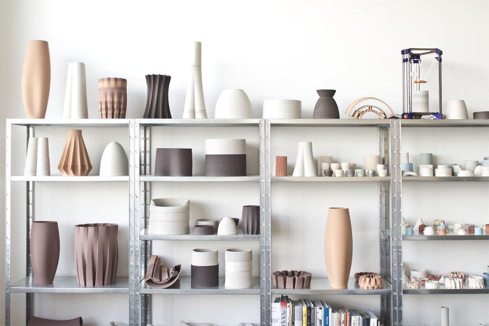 3-d printed ceramics by Olivier van Herpt