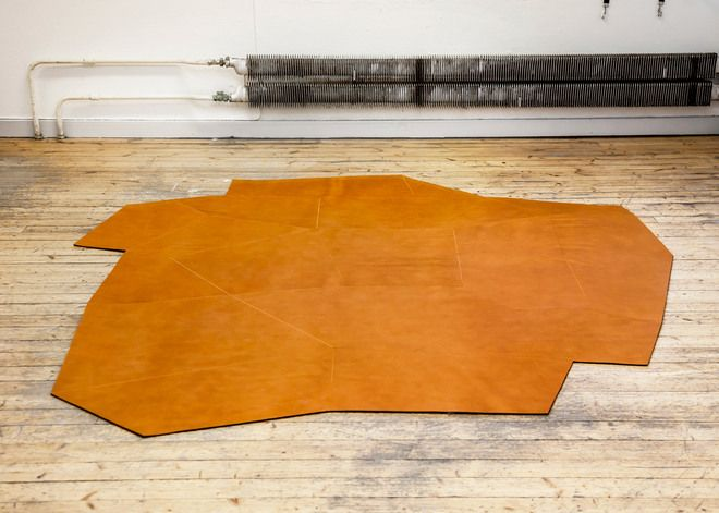 Sense of Place leather stitched carpet by Claesson Koivisto Rune