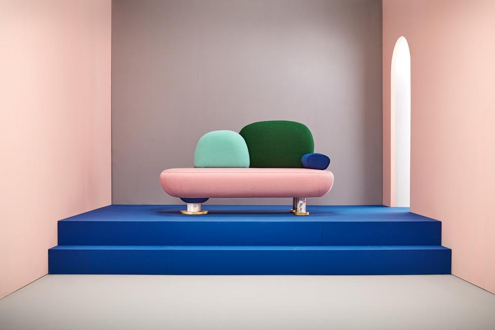 Toadstool sofa by Masquespacio for Missano