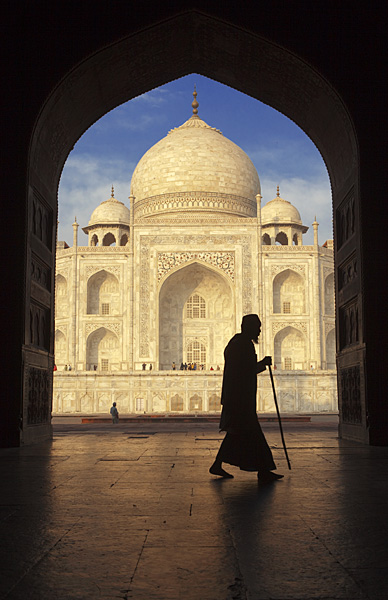 The Taj Mahal is a Muslim mausoleum commissioned in 1632 by the Mughal Emperor Shah Jahan.