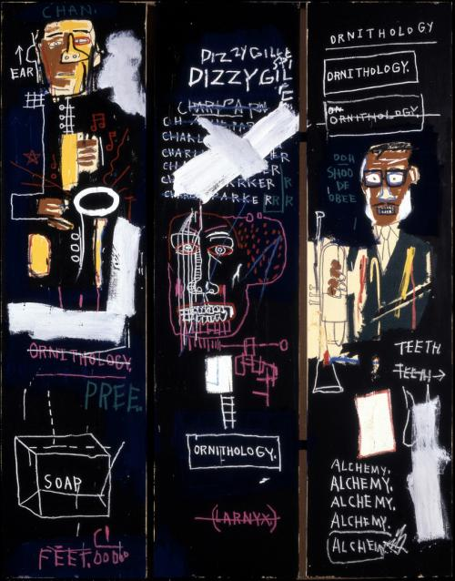 An homage to the great horn players Charlie Parker and Dizzy Gillespie. - Jean Michel Basquiat