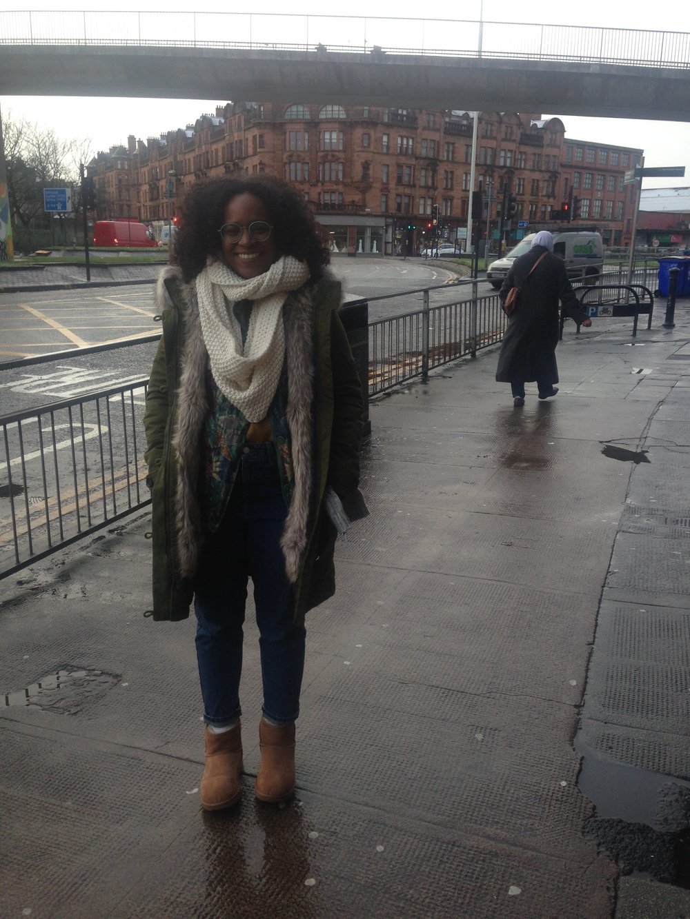 Me, all bundled up in Glasgow. (Photo by: Nicole Smythe-Johnson)