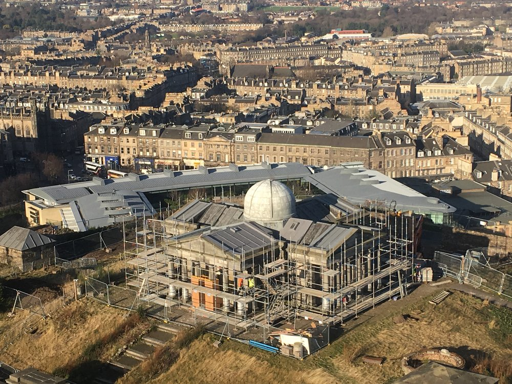 The Calton Hill Observatory, where Collective is to relocate, under construction. (Photo by: Collective)