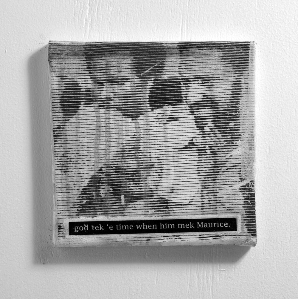 A panel from Trinidadian artist Richard Mark Rawlins'  Finding Black  (2014).    Image courtesy of: Richard Mark Rawlins
