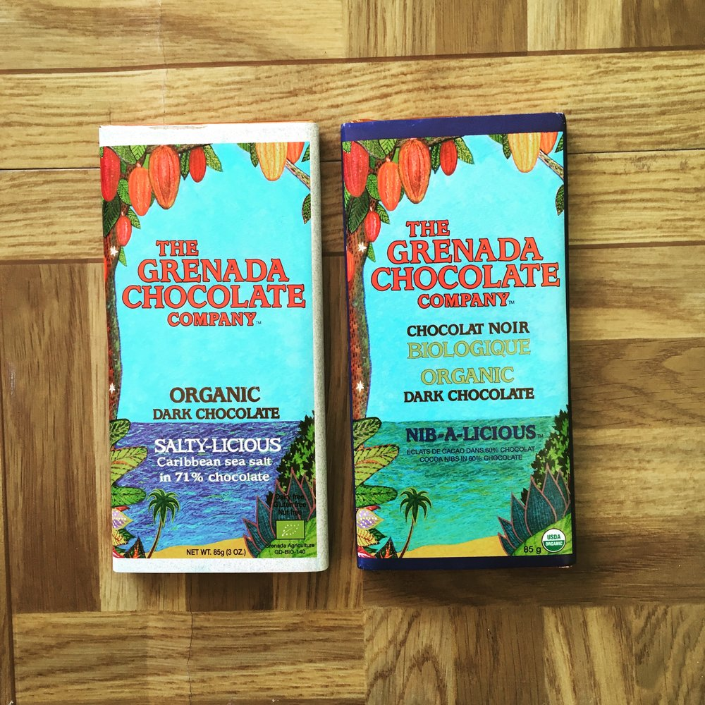 Grenadian chocolate bars.    Image courtesy of: NSJ