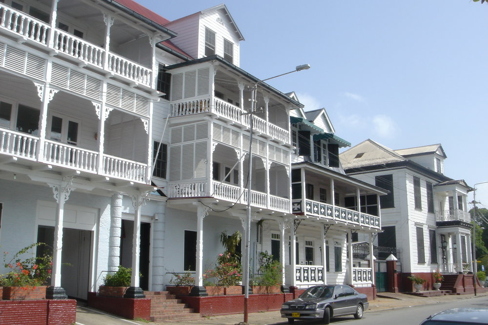 Dutch colonial architecture in the historic inner city of Paramaribo. Image courtesy of UNESCO.