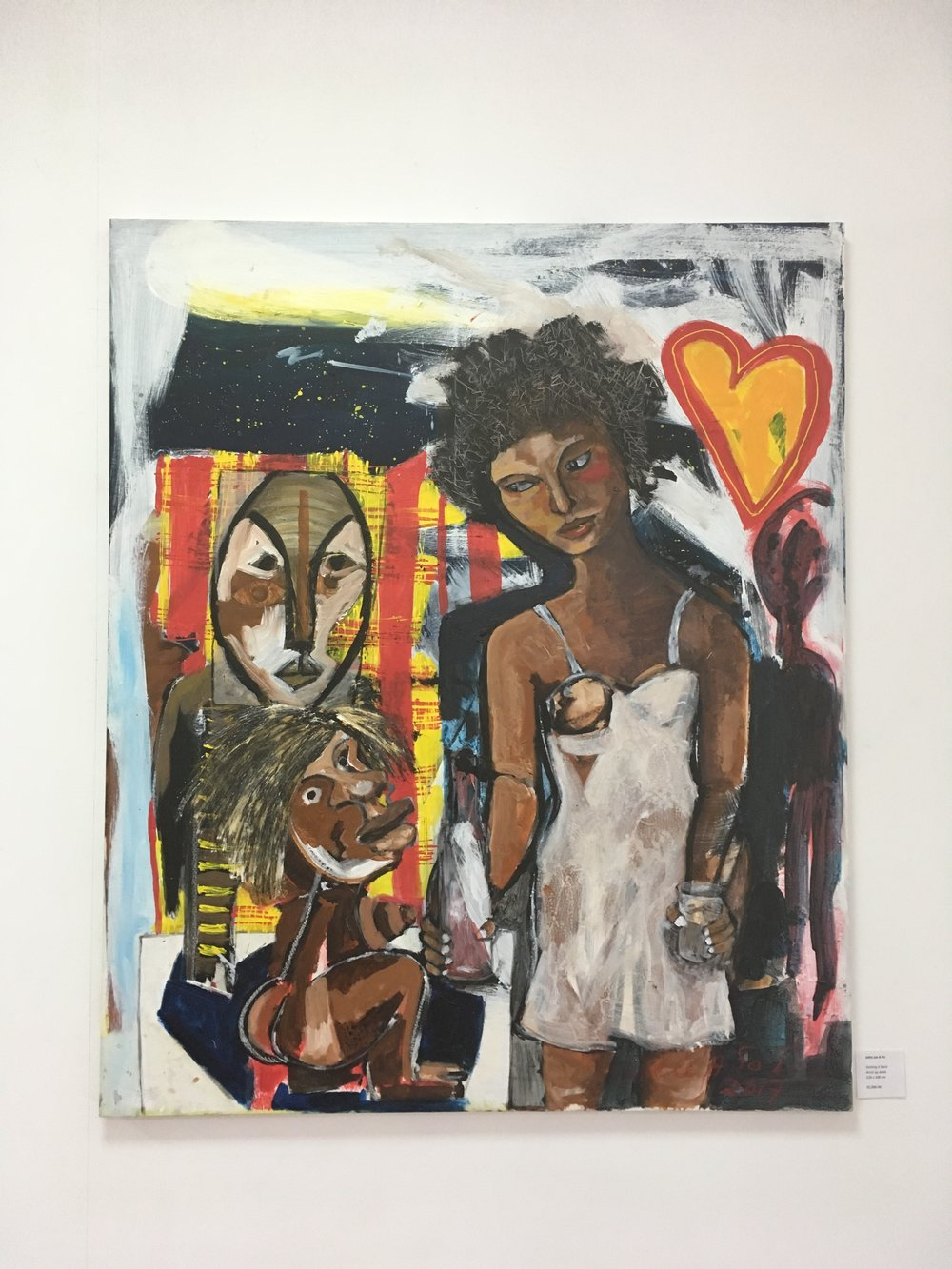 Images from French Guyana-based Surinamese artist John Lie A Fo's Retrospective, which was being exhibited at Readytex while I was in Suriname.