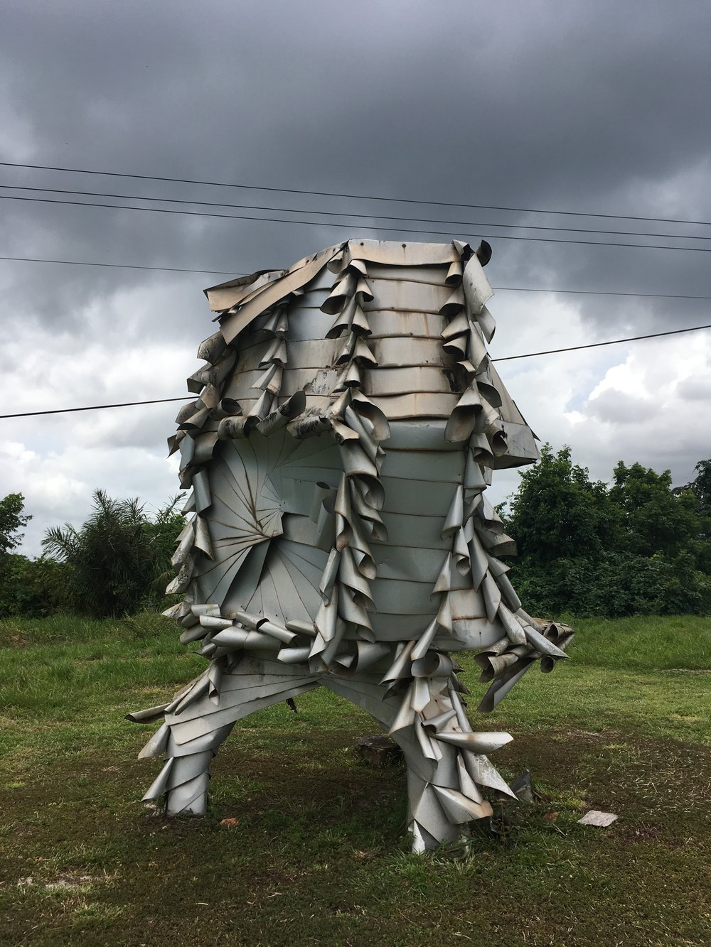 Work by Netherlands-based Surinamese artist, Charl Landvreugd.