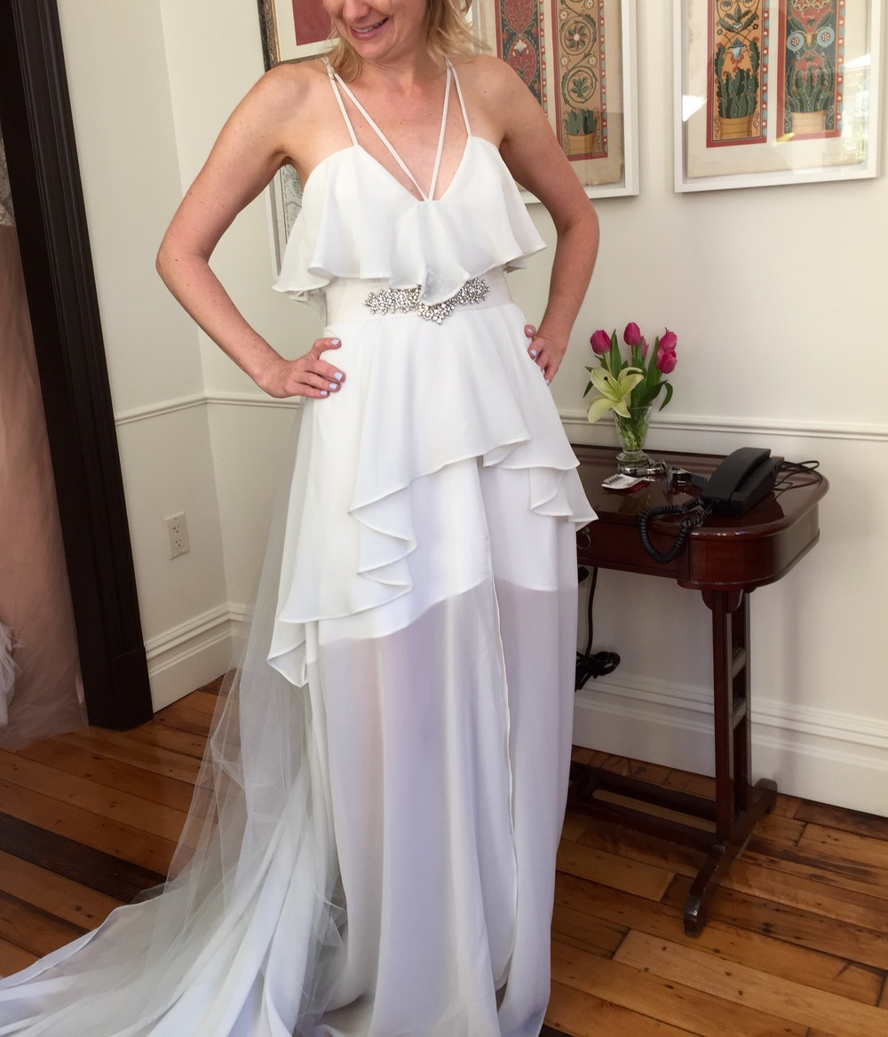 "Elizabeth Dye's sheer, multi-layered ""Huron"" gown. *Coming Soon to Alt. Brides!*"