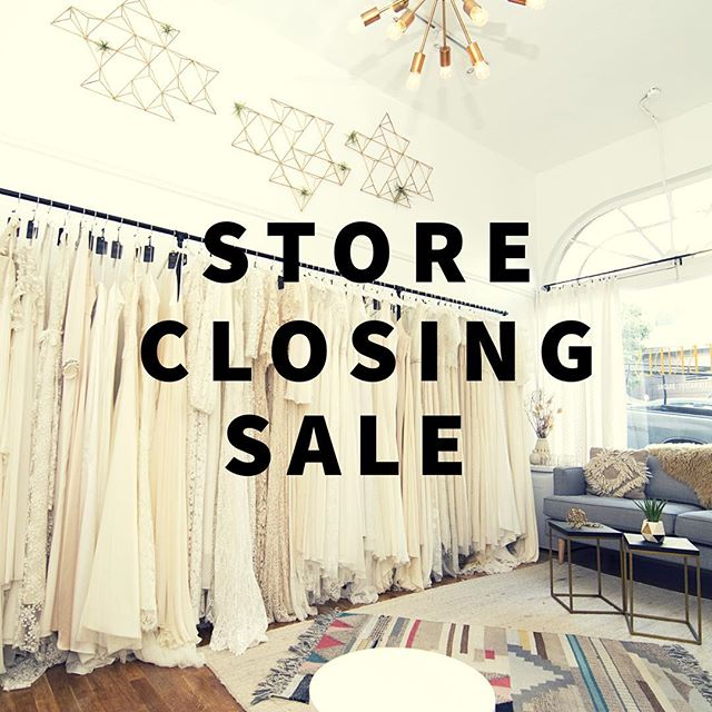 STORE CLOSING SALE: Between now and July 28th every single one of our gowns is on sample sale and up for grabs! To give you brides the best possible experience, we're still operating by appointment only until 7/26, so head over to www.altbrides.com to book your appointment (direct link can be found in our profile). Our last 2 days in business (July 27-28th), we'll open our doors to walk-ins only — first come, first served. Brides, EVERYTHING MUST GO, so don't miss out on the chance to score some serious deals on our most popular gowns, veils, and accessories before we close our doors for good!