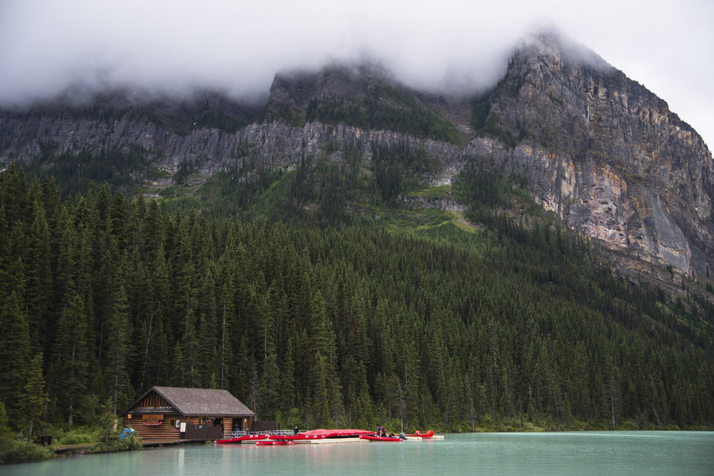 Lake Louise Green Looking Day in Alberta.jpg