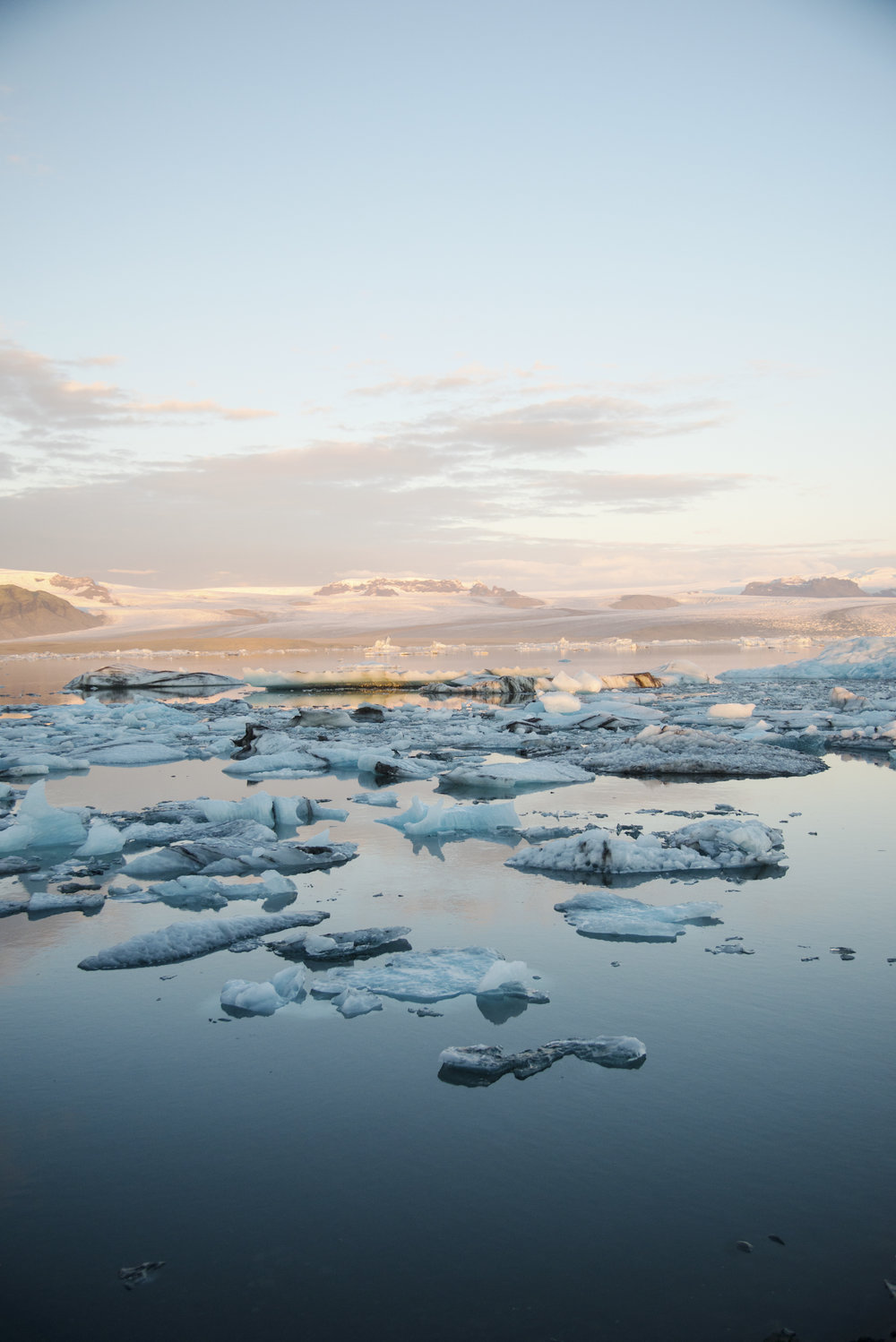 Sunrise Over Jukosarlon Glacier Lagoon in Iceland.jpg