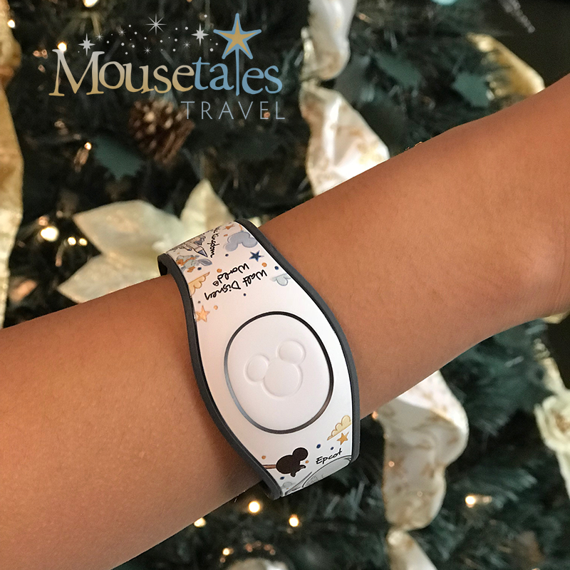 Gift of Magic MagicBands on the wrist