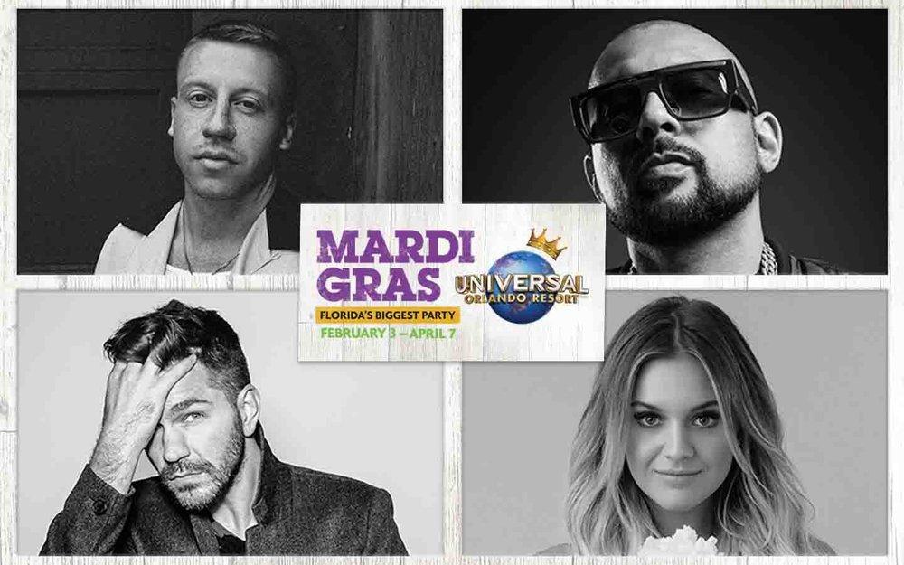 2018 Mardi Gras Concerts at Universal Orlando