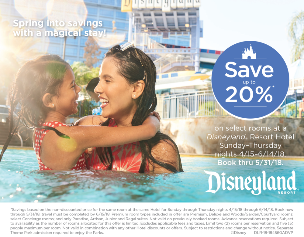 Disneyland Spring Offer