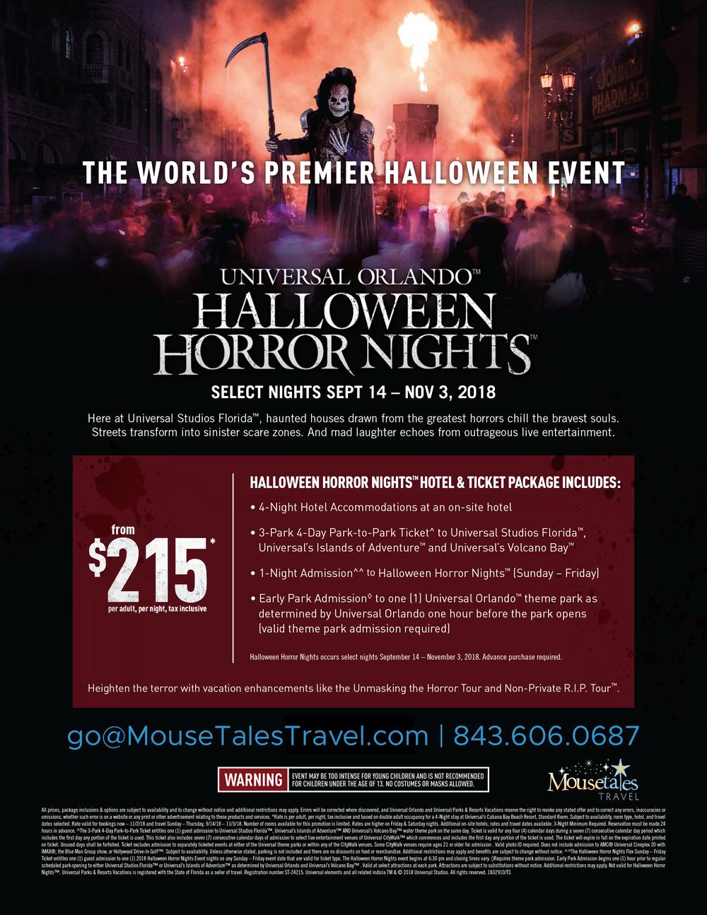 Halloween Horror Nights MTT