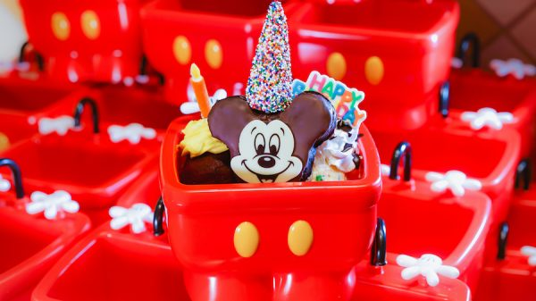 Mickey's birthday sundae available at Disneyland