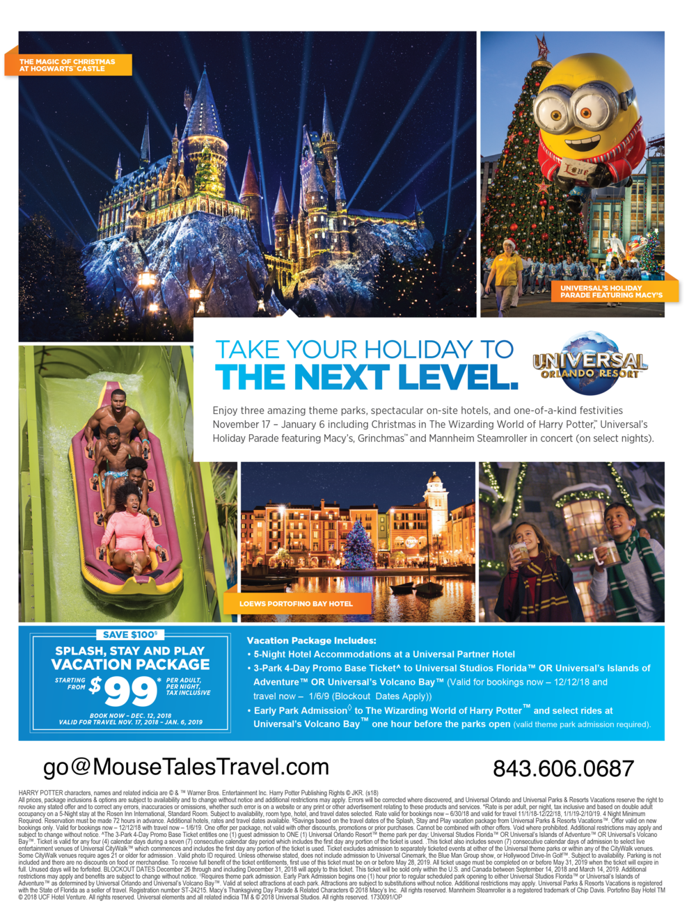 Universal's Splash, Play and Stay vacation package