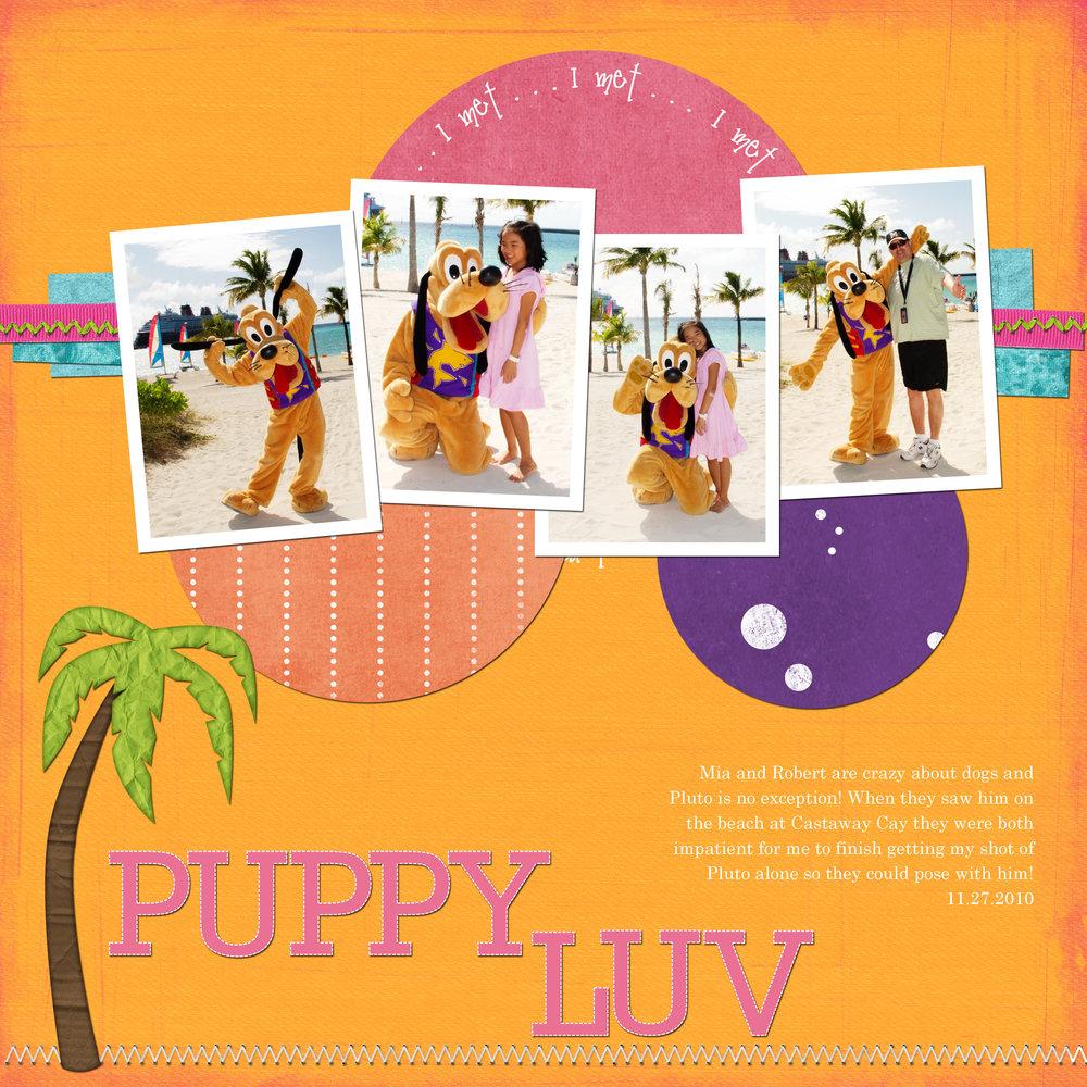 Puppy Luv - a scrapbook spread with Pluto