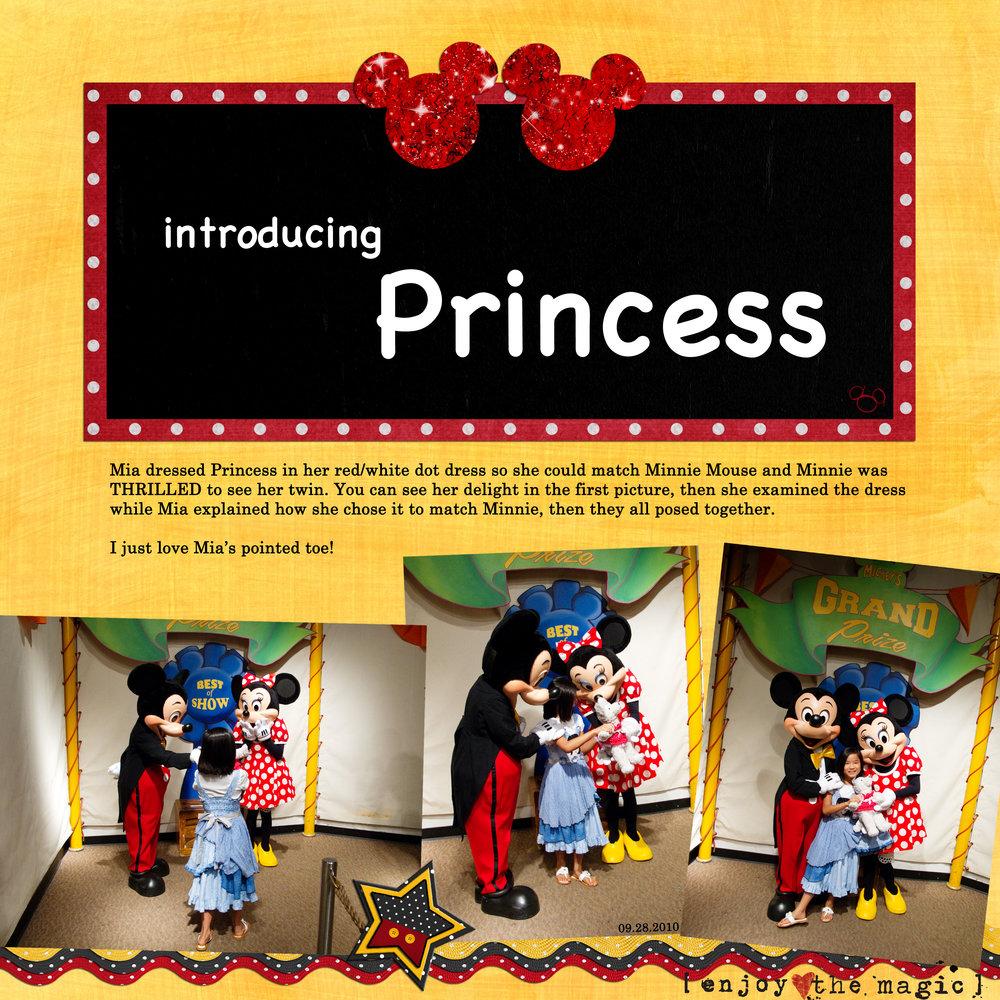 introducing Princess scrapbook layout