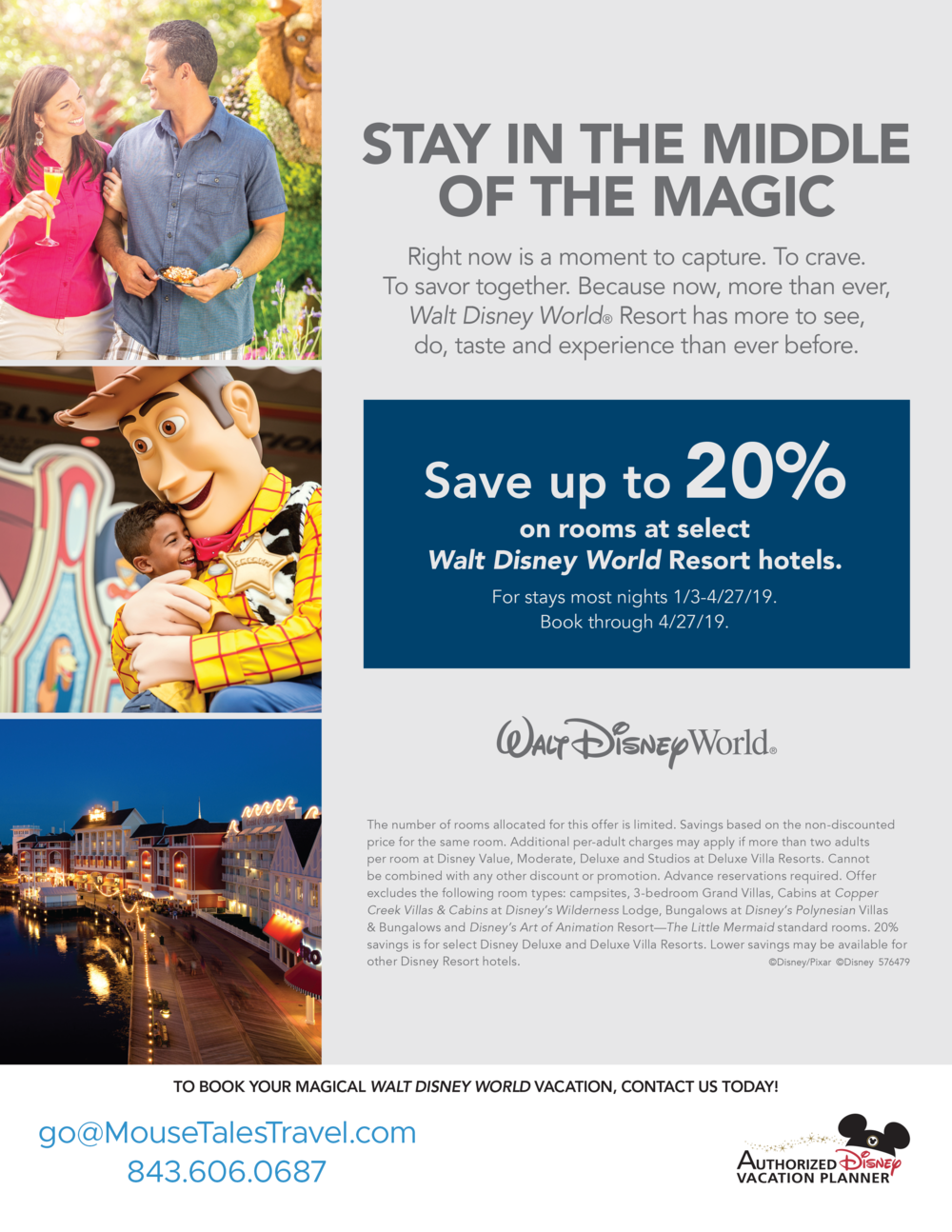 WDW room discount for winter 2019