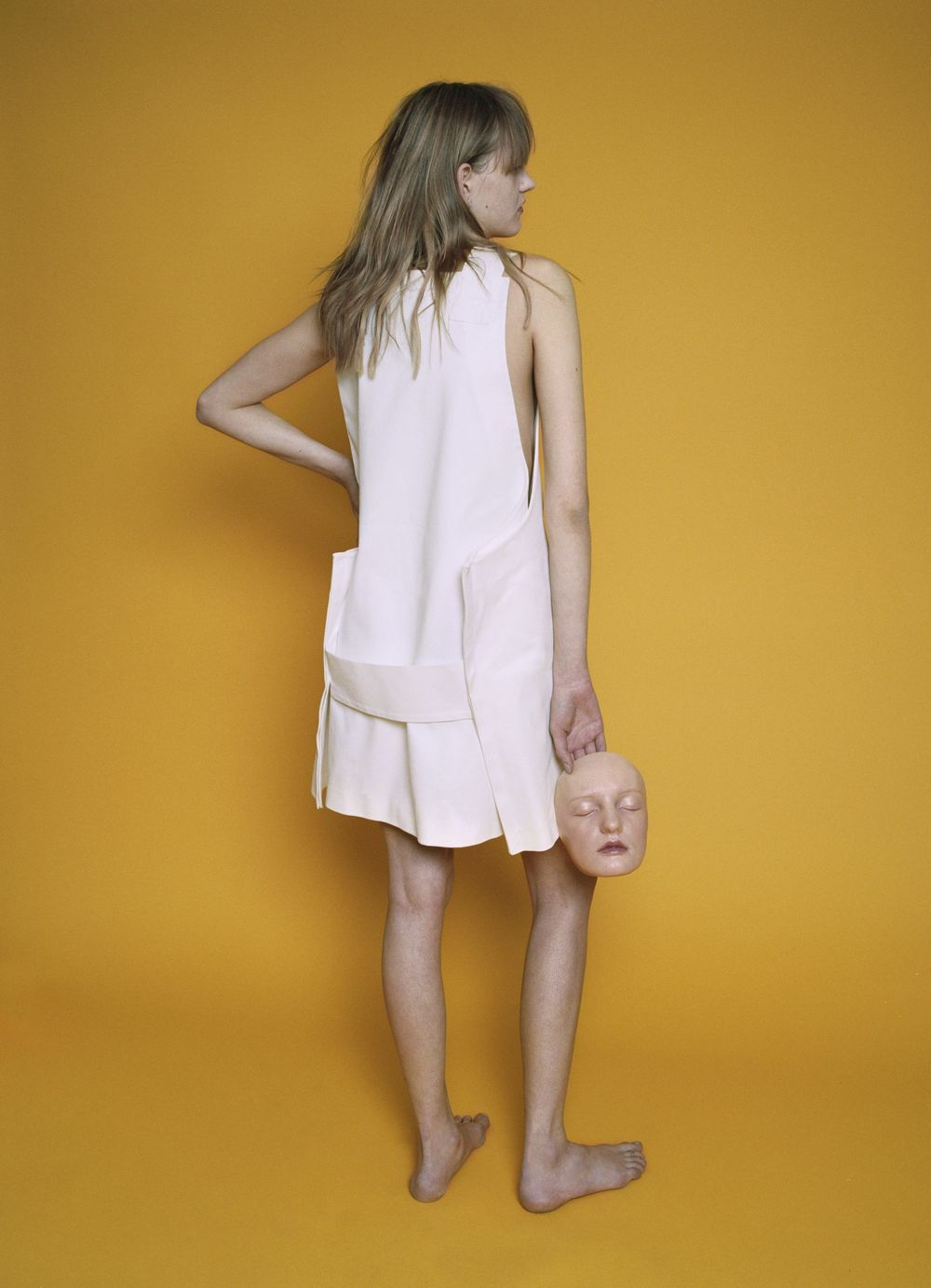 White apron dress  JACQUEMUS.